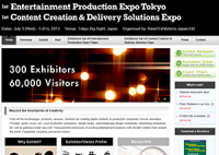 1st Entertainment Production Expo Tokyo & Content Creation and Delivery Solutions Expo
