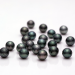 Komatsu Cutting Factory: Black Hana Pearl (Faceted Pearl)