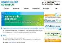 Nano Micro Biz ROBOTECH 2013 July 3 – 5th