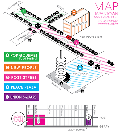 J-POP SUMMIT FESTIVAL: Map