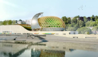 Plan designed by Japanese architect in the development projects of Paris was adopted