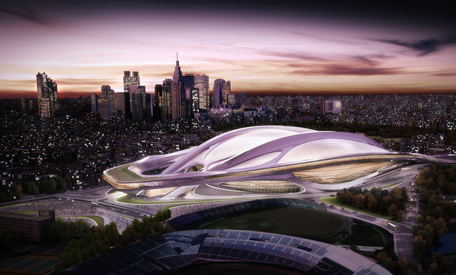 2020 Tokyo Olympics: The Olympic Stadium stands in Tokyo
