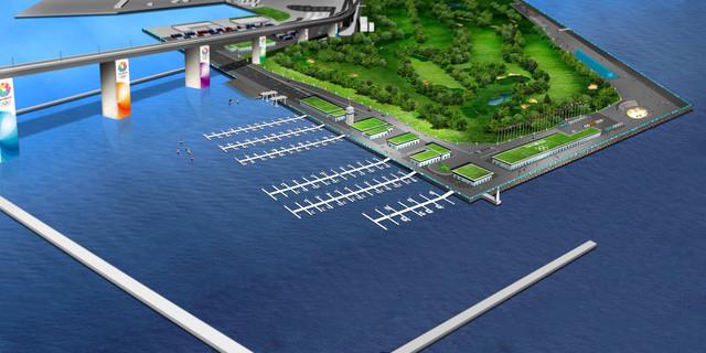 2020 Tokyo Olympics: The Wakasu Olympic Marina in Tokyo
