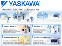 YASKAWA Electric Corporation – Manufacturer of Servos, Machine Controllers, AC Motor Drives, Switches and Robots