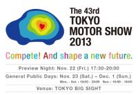 The 43rd Tokyo Motor Show on Nov 22 – Dec 1, 2013