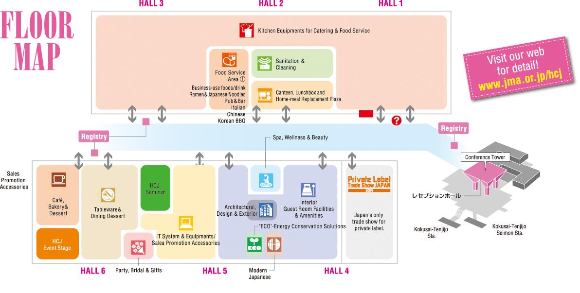HOTERES JAPAN 2014 Floor Map