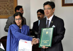 Japanese Ambassador, Inomata and Secretary Economic Affairs Division, Nargis Sethi
