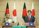 Bangladesh Prime Minister Sheikh Hasina and Japan Prime Minister Shinzo Abe