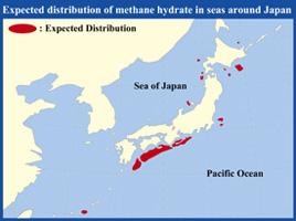 Japan Methane Hydrate Map