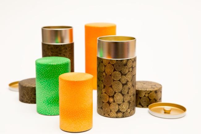 Kotodo Takahashi Corporation - Yuzen Tea Canisters