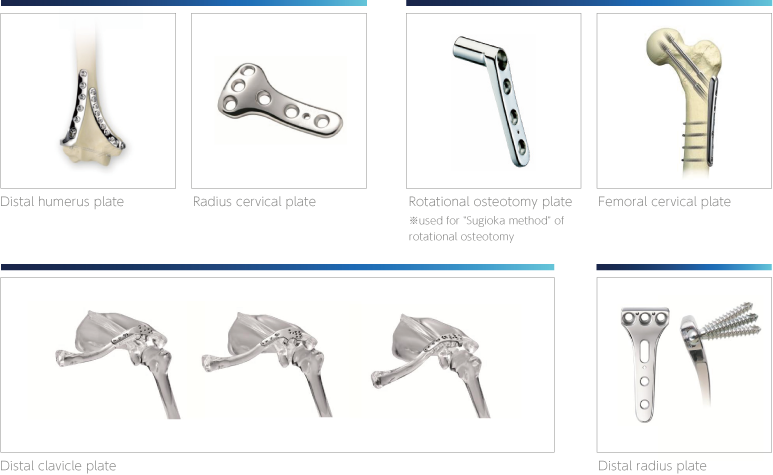 Nakashima Medical Co., Ltd. - Trauma Devices: Plate and screw system