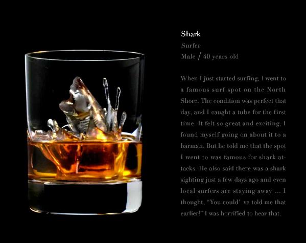Suntory Whisky 3D on the Rocks - Shark