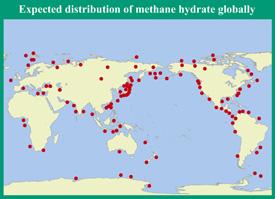 World Methane Hydrate Map