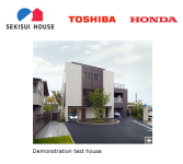 Japanese house maker, electrical maker and automaker have jointly built new demonstration test house