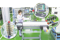 "Roland DG's assembly line ""D-Shop"" to improve space utilization, shorten times, and improve overall efficiency"