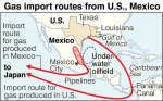 Japan's Gas Import Routes From US and Mexico