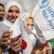 Gaza children fly kites for Japan
