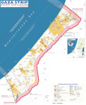 Gaza Strip, with Israeli-controlled borders and limited fishing zone