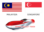 Japan's Shinkansen to Malaysia and Singapore