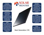 World's largest provider of CIS solar panels – Solar Frontier K.K.