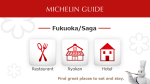 Michelin Guide Fukuoka and Saga Online