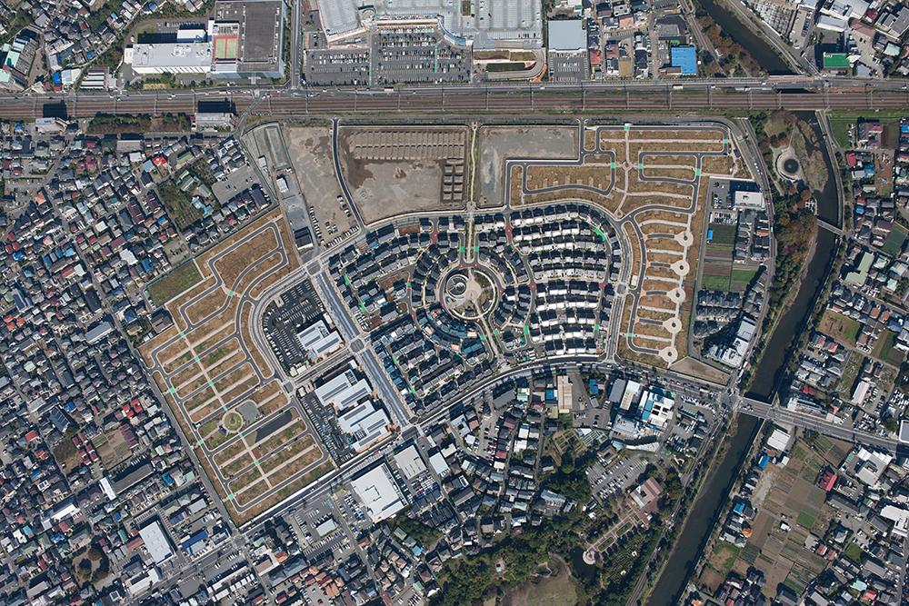 Bird's-eye view of Fujisawa Sustainable Smart Town