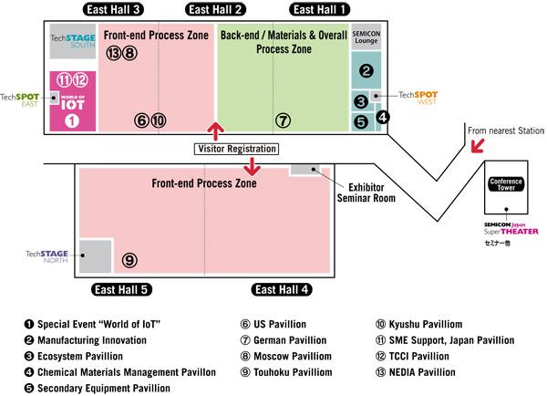 SEMICON Japan 2014 - Floor Map