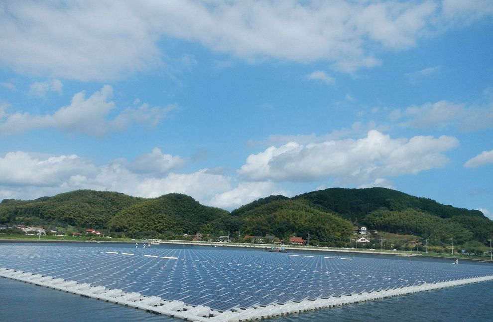 World's largest floating solar plant in Chiba Prefecture