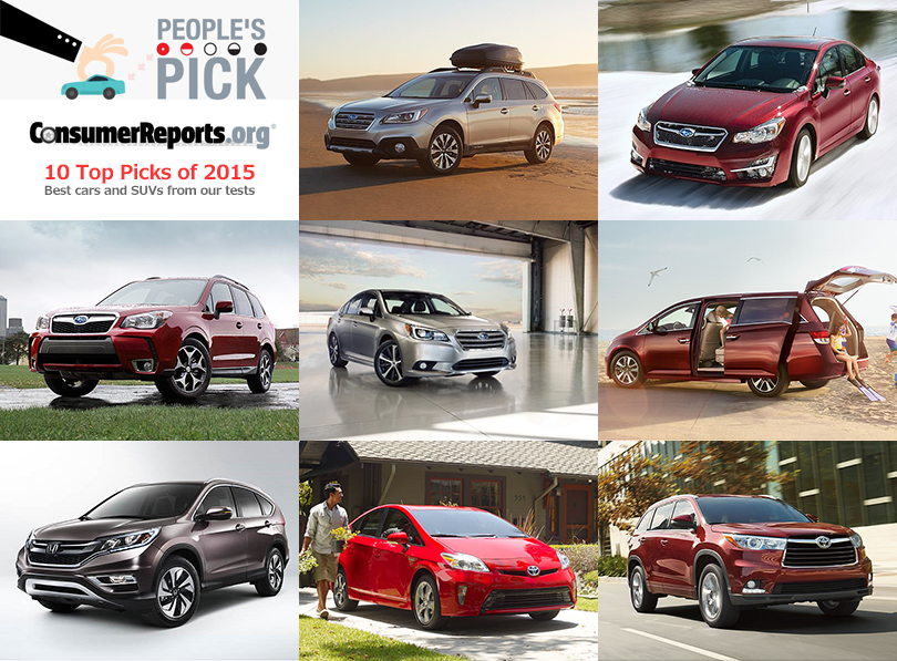 US Consumer Reports Best Cars 2015