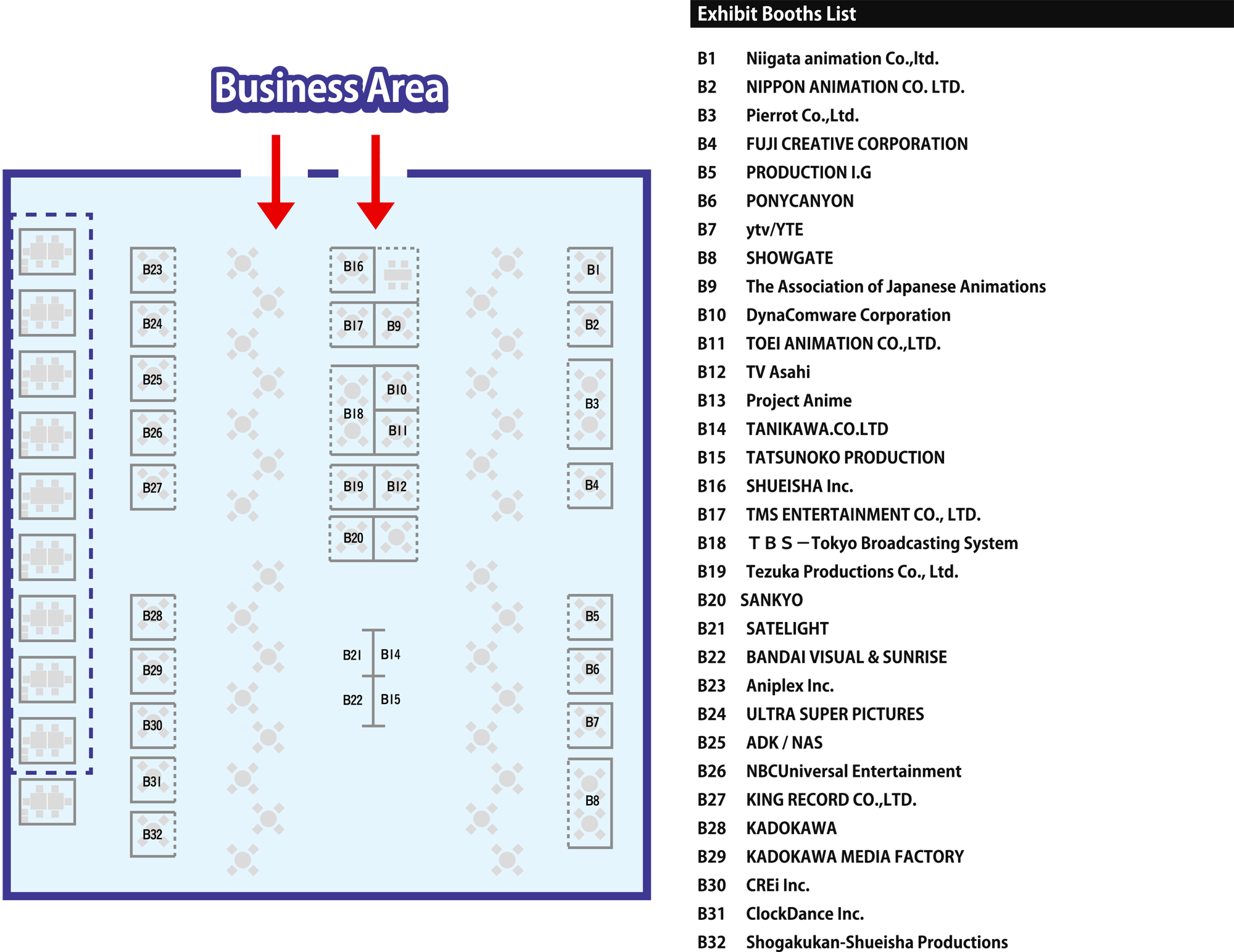 Image File - AnimeJapan 2015 Floor Map for Business Area