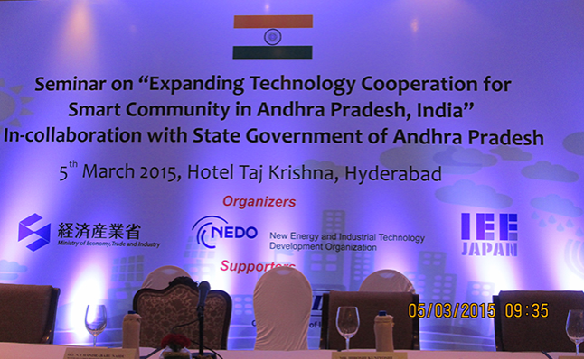 Expanding Technology Cooperation for Smart Community in Andhra Pradesh