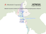 Map - Mitsubishi Corporation and Hitachi Ltd. To Supply and Install Train Signaling Systems in Myanmar
