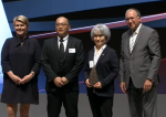 Akira Koshio and Masako Yudasaka receives at the European Inventor Award awards ceremony