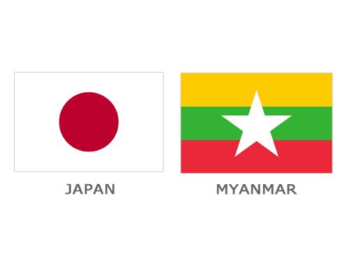Flag - Japan and Myanmar