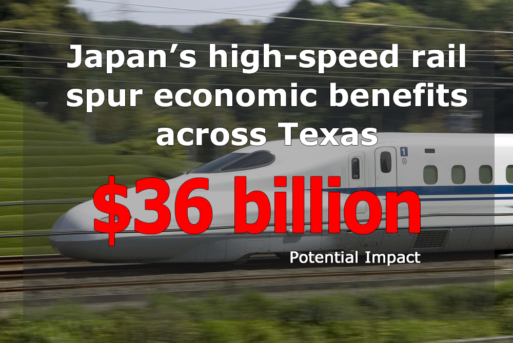 Japan's high-speed rail will spur economic benefits across Texas