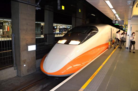 A bullet train in Taiwan, Japan's sole export market to date for its high-speed-rail technology.