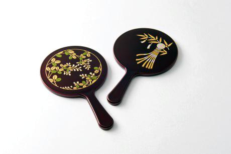 TOHOKU KOGEI Co., Ltd. - Tamamushi lacquerware: Hand Mirror