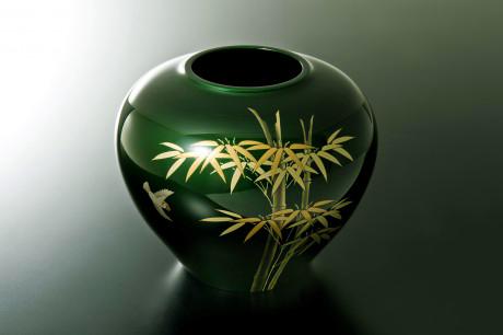 TOHOKU KOGEI Co., Ltd. - Tamamushi Lacquerware: Vase