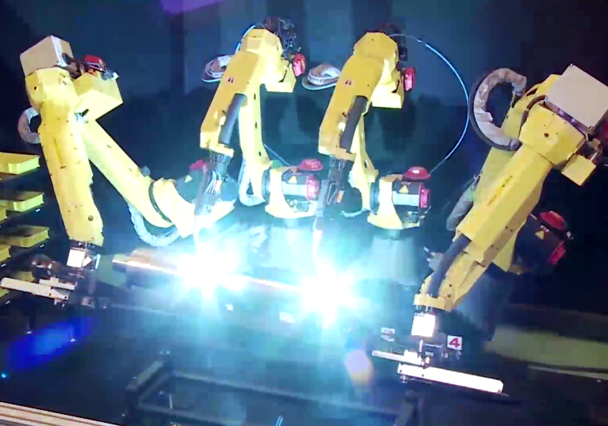 Fanuc, a company that produces robot arms for factories, is trying to get them to learn on the job.