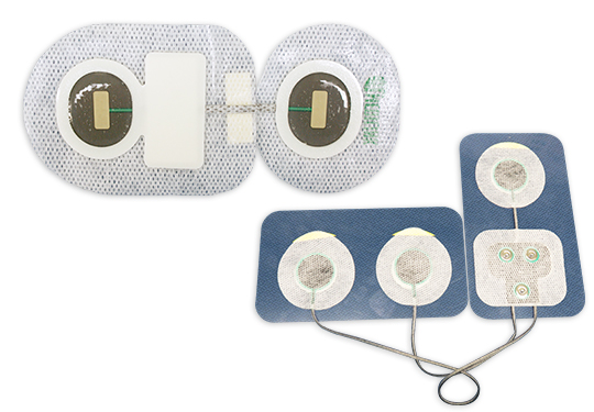 Electrode pad for wearable biosensor (NASA induction type)