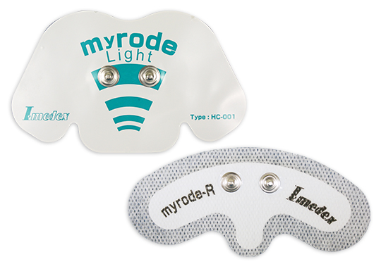 Electrode pad for wearable biosensor (Single induction type)