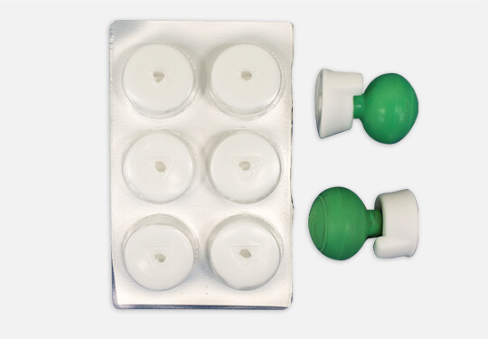 For mass screening (Urethane Gel) - Suction Electrodes