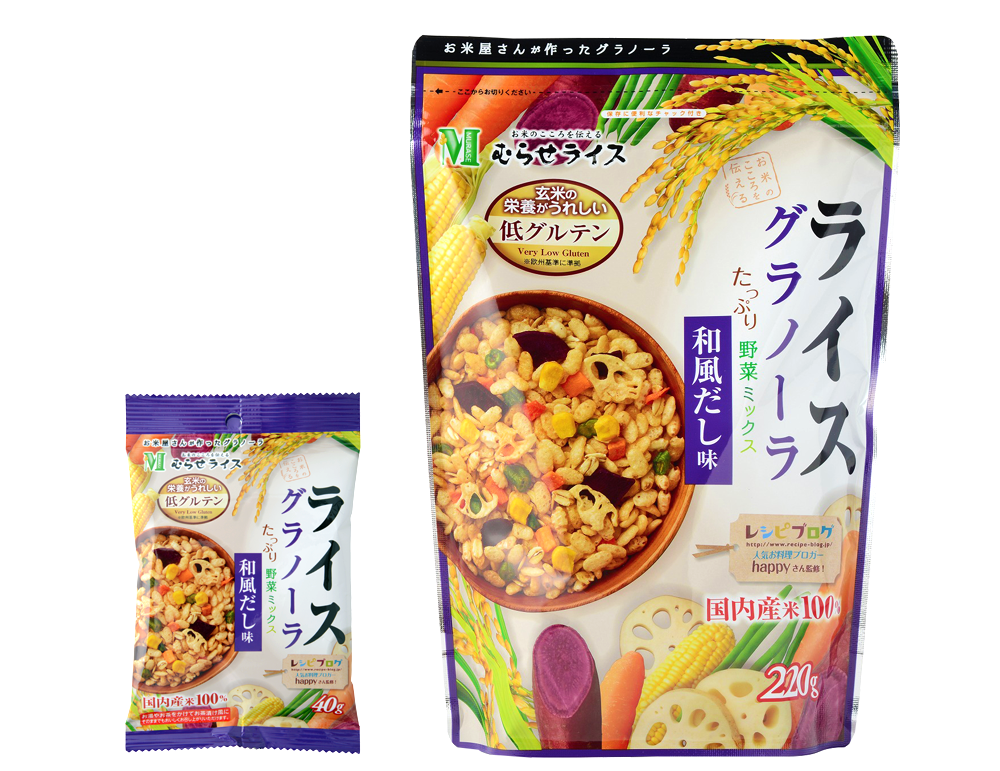 Rice Granola: Dashi Flavor - Murase Co., Ltd.