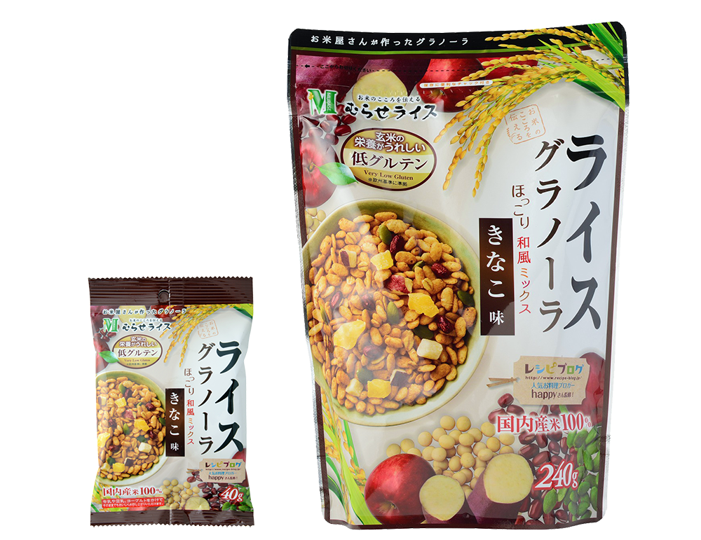 Rice Granola: Kinako Flavor - Murase Co., Ltd.