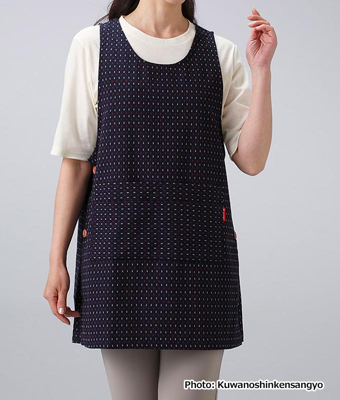 Kurume Dobby-Ori Apron - Watanosato