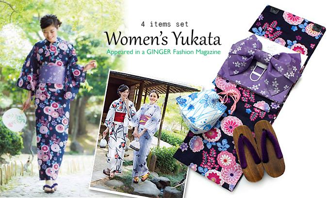 Women's Yukata - Kimonokyokomachi