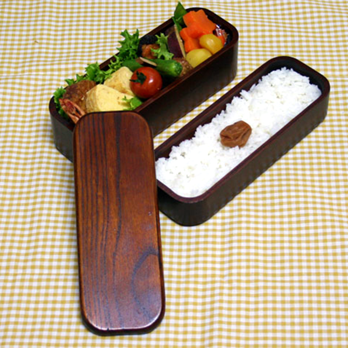 Lacquer Coating Slim Two-stage Bento Box