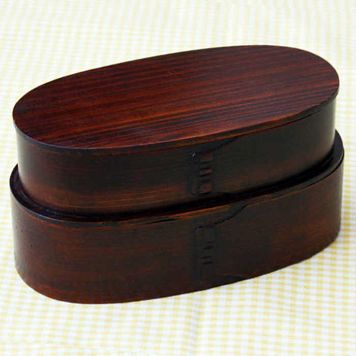 Bending Magewappa Iriko Bento Box Oval Two-Stage