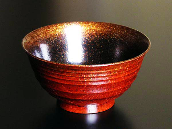 Lacquer for Rice Bowl - Red