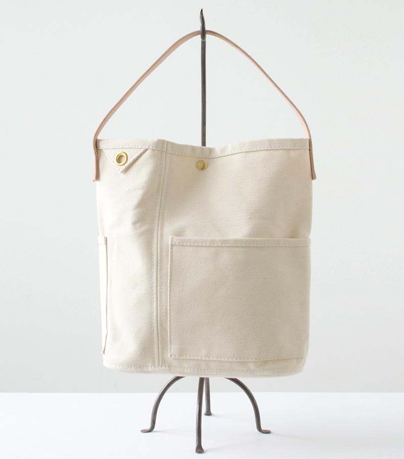 Ecru Color Shoulder Canvas Bag